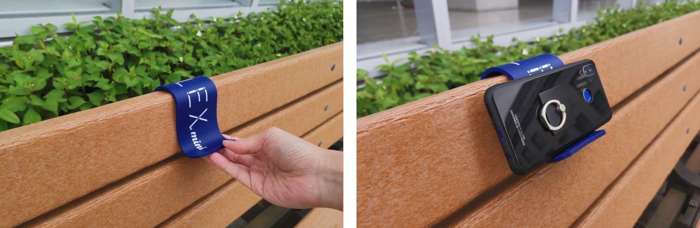 iFLEX miniをベンチに設置
